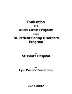 Lyle Povah: Drumming and Disorders St. Paul's Hospital 2007