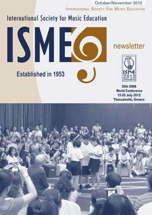 Lyle Povah: International Society for Music Education - Newsletter Oct2010